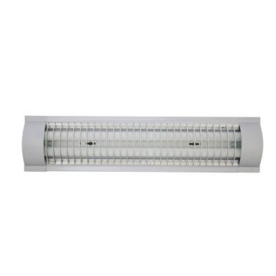 Fluorescente Prismático con Rejilla 2 x 18 W