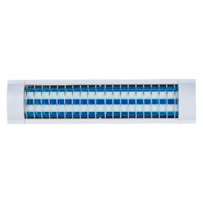 Prismático LED con Rejilla 2x10W Blanco