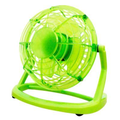 Mini ventilador 10cm verde