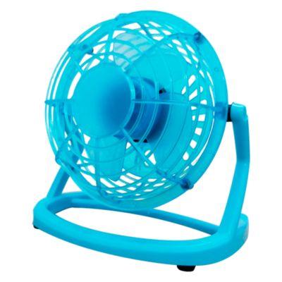 (Precio Regular S/. 59.9) Mini ventilador 10cm azul
