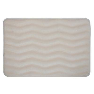 Piso de baño Zigzag Ivory 43x61cm