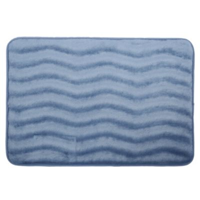Piso de baño Zigzag Azul 43x61cm