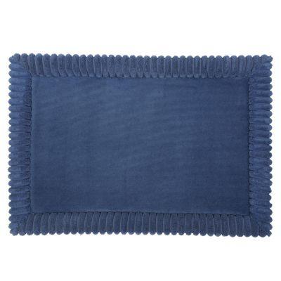 Piso de baño Bordes Azul 43x61cm