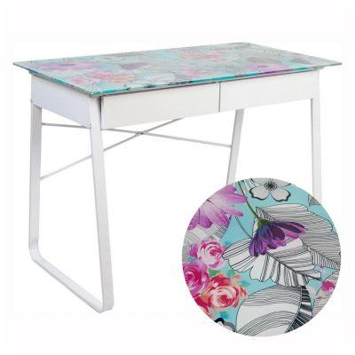 Escritorio de vidrio Floral