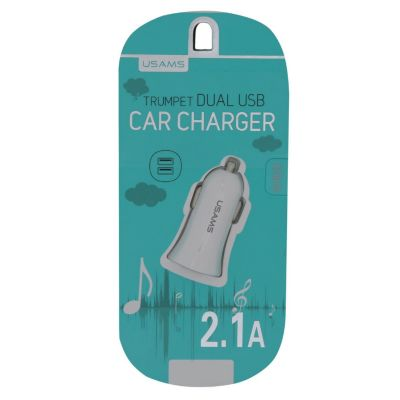 Cargador Auto Dual 2.1A Blanco