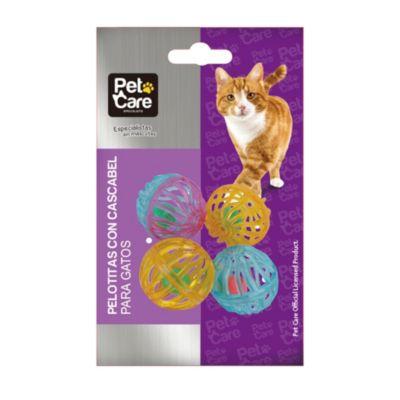 Pelotitas con cascabel para gato