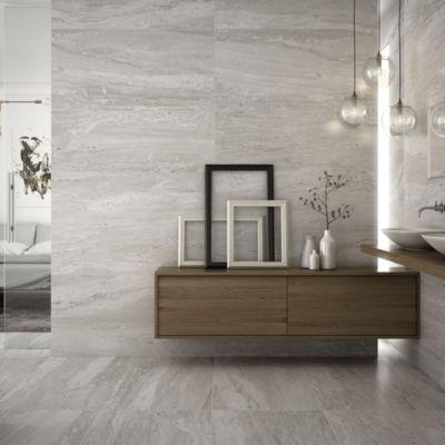 Porcelanato Striato Bianco Con Relieve 59x119cm para piso o pared
