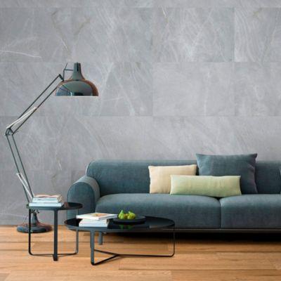 Porcelanato Grey Stone Gris Liso 59x119cm para piso o pared
