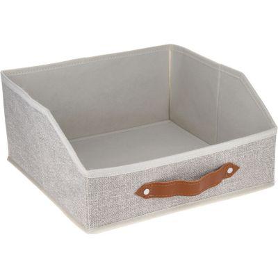 Caja Organizadora de Tela 30 x 30 x 15 cm Café