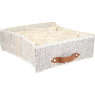 Caja Organizadora de Tela 40 x 24 x 14 cm Café