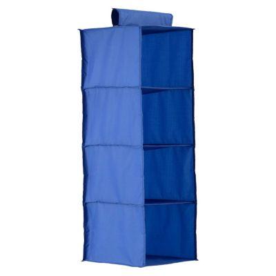 Organizadora 4 Niveles de Tela 30 x 30 x 84 cm Azul