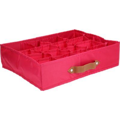 Caja Organizadora de Tela 35 x 27 x 9 cm Fucsia