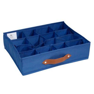 Caja Organizadora Tela 35 x 27 x 9 cm Azul