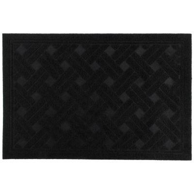 Alfombra Texture Negro 38x57cm