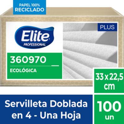 Servilleta Ecológica Plus doblada 100und.