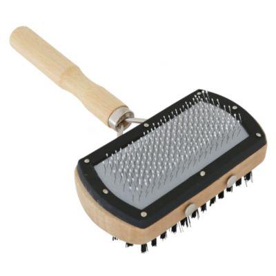 Cepillo doble madera crema y negro