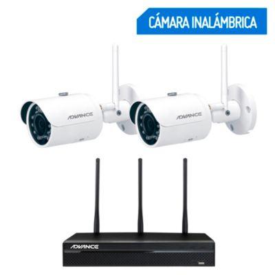 Kit Cámaras de Seguridad Inalámbricas 4 Canales / 2 Cámaras 1TB