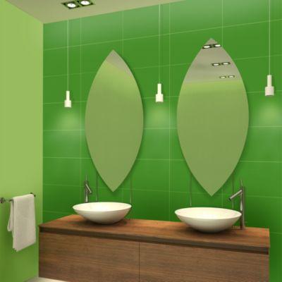 Cerámica Resi Green Liso 27x46cm para piso o pared