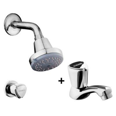 Combo Llave de lavatorio + Llave de ducha