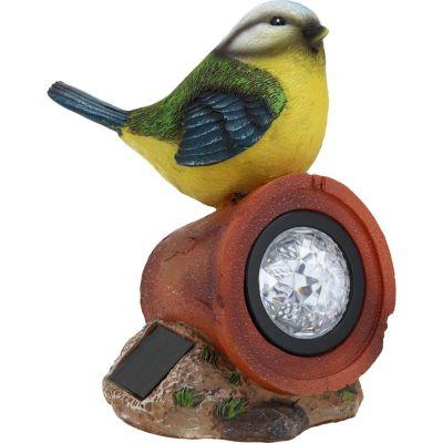 Adorno pájaro con luz solar