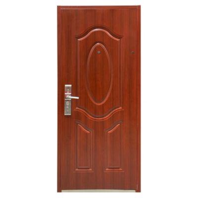 Puerta Seguridad de Acero 3 paneles Derecha 86 x 205 cm Marco y Cerradura incluido