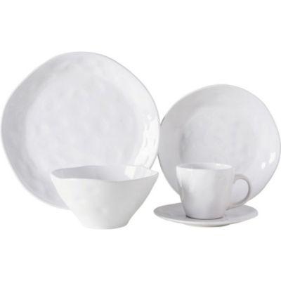 Set Vajilla Blanca texturado 20 piezas