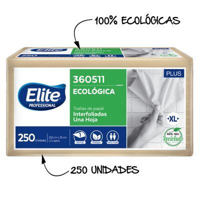 Toallas de papel interfoliadas 250und