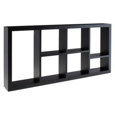 Repisa 7 Divisiones Negro 61x30x7.6cm