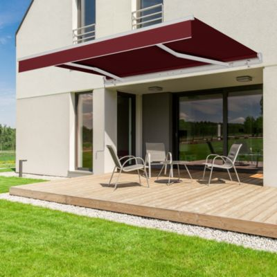 Toldo Retráctil 3.95 x 2.5m Marrón