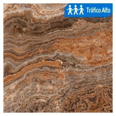 Porcelanato Brillante marrón claro 60x60cm rendimiento: 1.44m2