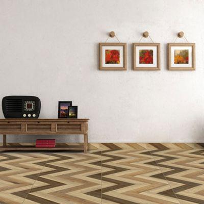 Cerámica Madera Lodge Beige Maderado 50x50cm para piso o pared
