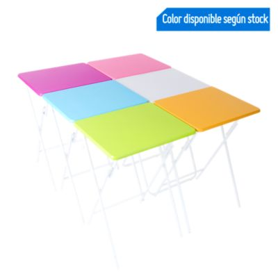 Mesa Plegable Colores 48x38x66cm