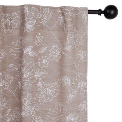 Cortina de Tela Estampada Flores 150x230
