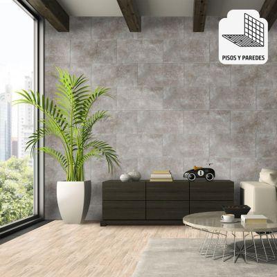 Cerámica Trive Gris Rústico 30x60cm para piso o pared