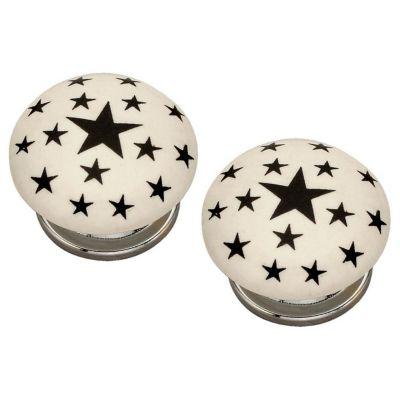 Pack de 2 Pomos 40mm Estrella Negra
