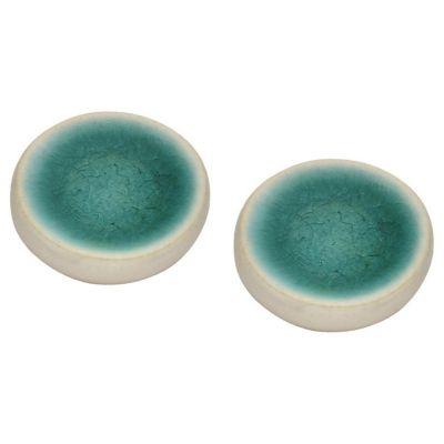 Pack de 2 Pomos 43mm Porcelana Blanco Azul