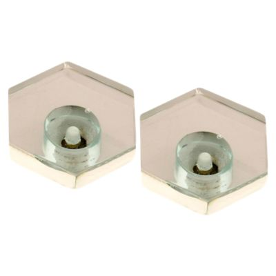 Pack de 2 Pomos 34mm Cristal Hexagonal