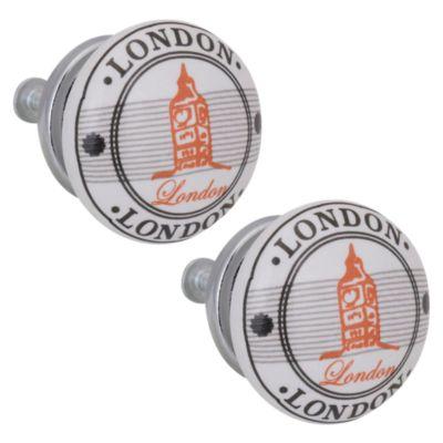 Pack de 2 Pomos 40mm Porcelana Londres
