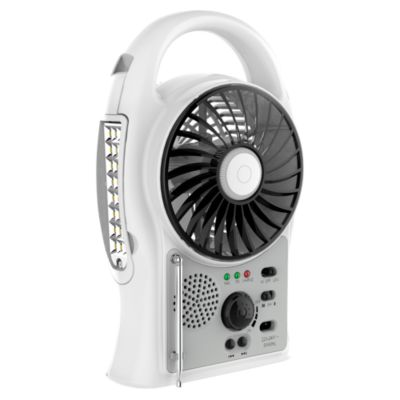 Ventilador Multifunción Lámpara + Radio FM