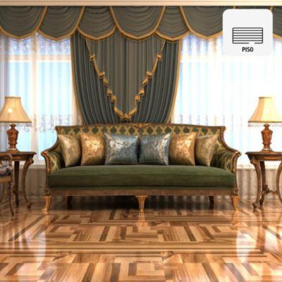 Gres Porcelánico León Marrón Maderado 60x60 cm para piso