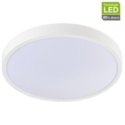 Plafón LED Anillo Luz Cálida 25 cm Blanco
