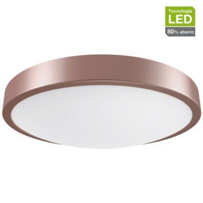 Plafón LED Anillo Luz Cálida 25 cm Marrón