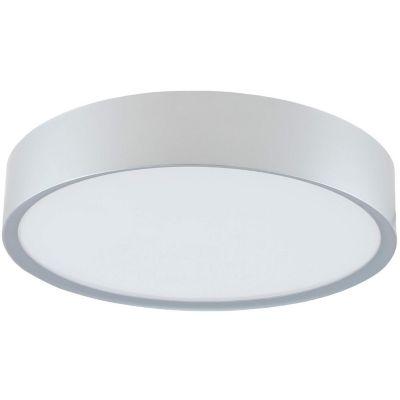 Plafón LED Anillo Luz Cálida 30 cm Plateado