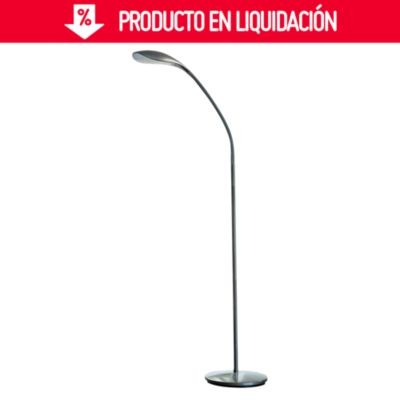 Lámpara de Pie Pazin Gris 1 Luz Led Integrado