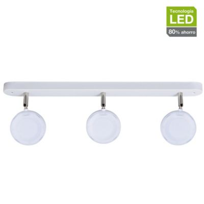Barra Bianco 3 Luces Led Integrado