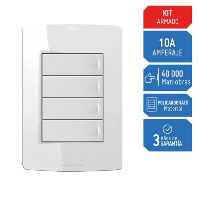 Interruptor Simple Silight Blanco