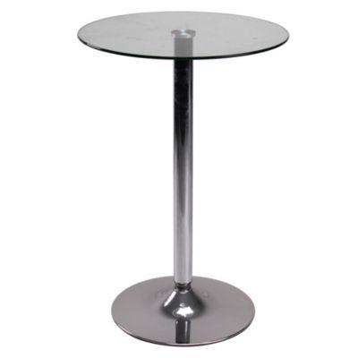 Mesa bar vidrio crema