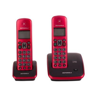 Teléfono Inalámbrico Auri A3520-2 Rojo