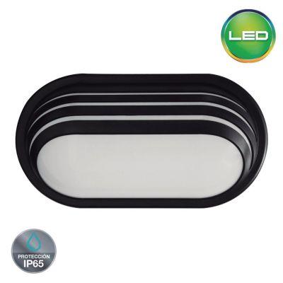Aplique Exterior Led Luz Cálida Ip 65 20 W Negro