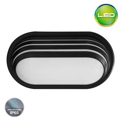 Aplique Exterior Led Luz Blanca IP 65 20 W Negro